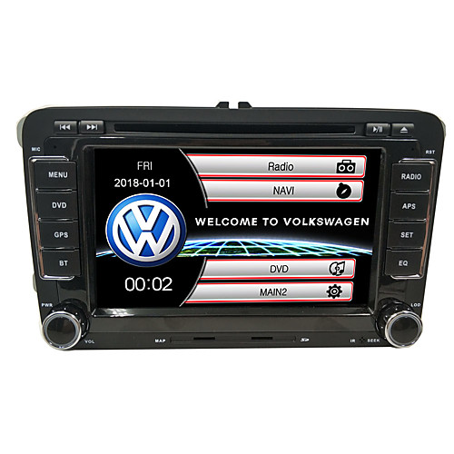 520WGNR04 7 inch 2 DIN Windows CE In-Dash Car DVD Player GPS / Touch Screen / Built-in Bluetooth for Volkswagen Support / Steering Wheel Control / Subwoofer Output / Games / SD / USB Support