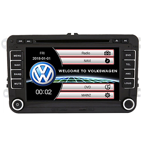 520WGNR04 7 inch 2 DIN Windows CE In-Dash Car DVD Player GPS / Touch Screen / Built-in Bluetooth for Volkswagen Support / Subwoofer Output / Games / SD / USB Support / FM Transmitter / MPEG4