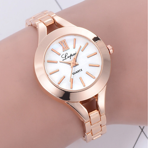 Women's Bracelet Watch Fashion Elegant Silver Rose Gold Alloy Chinese Quartz Silver black / silver Rose Gold New Design Casual Watch 1 pc Analog One Year Battery Life