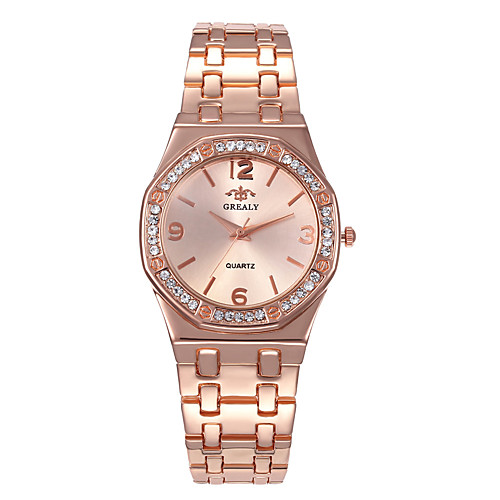 Women's Steel Band Watches Luxury Minimalist Silver Alloy Chinese Digital Rose Gold Gold Silver Casual Watch 30 m 1 pc Analog - Digital One Year Battery Life