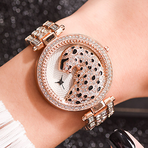 Women's Quartz Watches Casual Fashion Silver Gold Rose Gold Alloy Chinese Quartz Rose Gold Gold Silver Leopard Casual Watch Cool 30 m 1 pc Analog One Year Battery Life