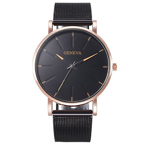 Unisex Quartz Watches Elegant Fashion Black Rose Gold Alloy Chinese Quartz Rose Gold GoldenBlack Red Casual Watch 1 pc Analog One Year Battery Life