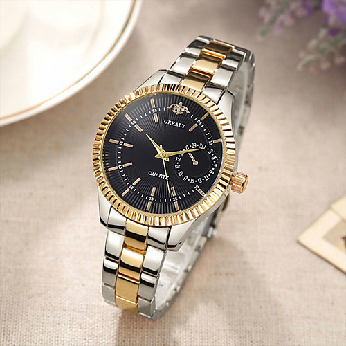 Women's Quartz Watches Minimalist Fashion Silver Gold Rose Gold Alloy Chinese Quartz Rose Gold Golden / Brown GoldenBlack Casual Watch Adorable 30 m 1 pc Analog One Year Battery Life