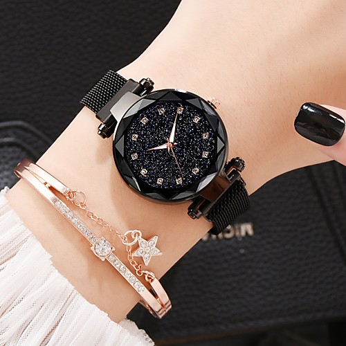 Women's Quartz Watches Classic Casual Alloy Chinese Quartz Rose Gold WhiteCoffee Black Casual Watch Imitation Diamond Lovely 30 m 2 Piece Analog One Year Battery Life