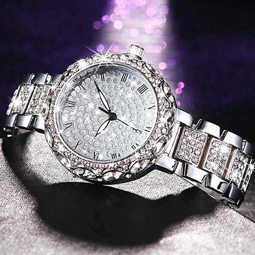 Women's Quartz Watches Casual Elegant Silver Gold Rose Gold Alloy Chinese Quartz Rose Gold Gold Silver Imitation Diamond Large Dial Lovely 30 m 1 pc Analog One Year Battery Life