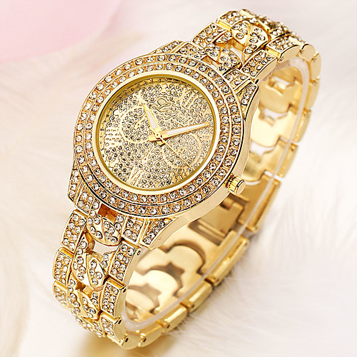 Women's Quartz Watches Minimalist Fashion Black Silver Gold Alloy Chinese Quartz Rose Gold Gold Silver Cute Imitation Diamond 1 pc Analog One Year Battery Life