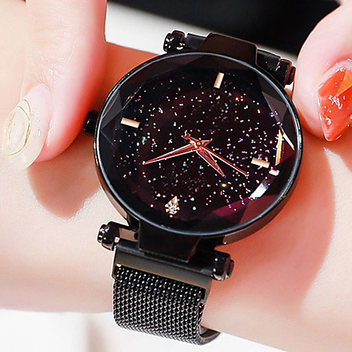 Women's Quartz Watches Minimalist Fashion Black Blue Purple Stainless Steel Alloy Chinese Quartz Rose Gold Purple Blue Casual Watch Imitation Diamond Lovely 30 m 1 pc Analog One Year Battery Life