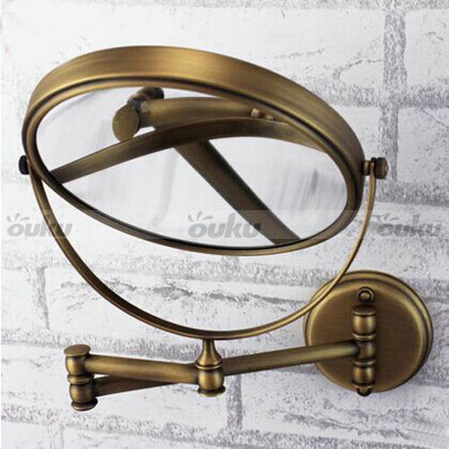 brass bathroom mirrors 8 inch antique brass wall mount make up bath 12158