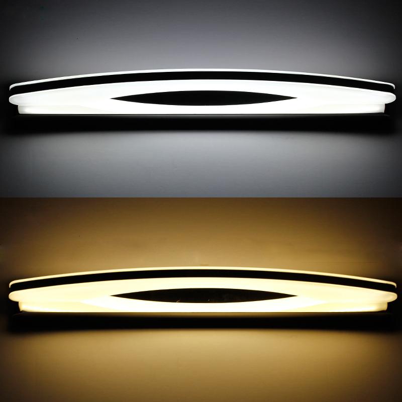 Modern Chorme Long LED Bathroom Mirror Wall Lighting Metal ...