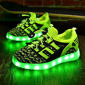 Boys' Shoes Fabric Spring Fall Light Up Shoes Comfort Sneakers LED for Athletic Black Green Royal Blue Red 5227511