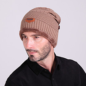 Ski Hat Men's / Women's Keep Warm / Thermal / Warm Snowboard Wool Solid Color Winter Sports 5218108