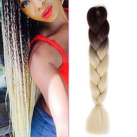Braiding Hair Crochet Jumbo 100% kanekalon hair / Kanekalon 1, 1 Piece Hair Braids Ombre Ombre Braiding Hair 5083314