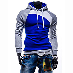 Men's Sports Active Long Sleeve Slim Hoodie - Color Block 5404377