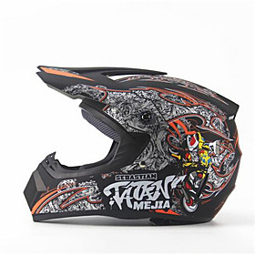 MEJIA Off-Road Motorcycle Racing Helmet Gloss Black Full Face Damping Durable Motorsport Helmet 5789993