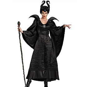 Witch Fairytale Cosplay Cosplay Costume Party Costume Women's Halloween Carnival Festival / Holiday Halloween Costumes Outfits Black Solid Color 6041560