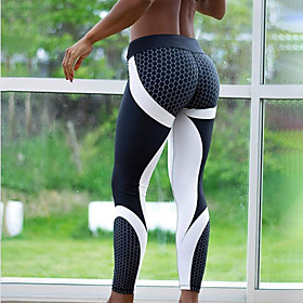 Women's Sports Sporty Legging - Geometic, Print Mid Waist / Skinny 6318615