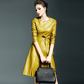 Women's Going out Street chic Slim A Line / Sheath Dress - Solid Colored Pure Color 6316722