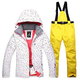 Per donna Giacca e pantaloni da sci Ompermeabile Antivento Caldo Sci Cotone  Giacca invernale Pantaloni da 77434d7523e