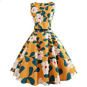 Women's Vintage Sheath Dress - Floral 6667812