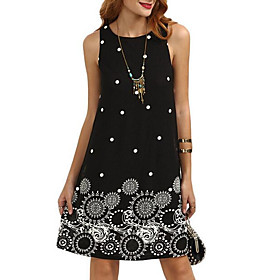 Women's Going out Shift Dress - Graphic Print 6733740