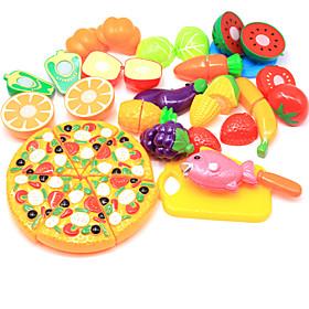 Pretend Play Food Fruit Parent-Child Interaction Plastic Shell Preschool All Boys' Girls' Toy Gift 24 pcs 6746075