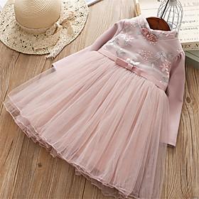 Kids Girls' Floral Half Sleeve / Long Sleeve Dress 6900341
