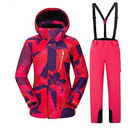 Vector Per donna Giacca e pantaloni da sci Antivento Caldo Occhiali da sci  Sci Campeggio e 4ac19288162