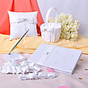 Love Ever Lasting White Wedding Collection Set With Rhinestone Accents (6 Pieces)
