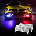 2Pcs Explosively Flashing Red And Blue Yellow Car Led Strobe Warning Lights Guard Booth Lights 12-24