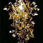 60W Nature Inspired Pendelleuchte mit Garland Gekrönt Shade Edelstahl 6160