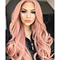 Synthetic Lace Front Wig Wavy Middle Part 150% Density Synthetic Hair Women / Synthetic / Fashion Rose Pink Wig Women's Long Lace Front Rose Gold 3204