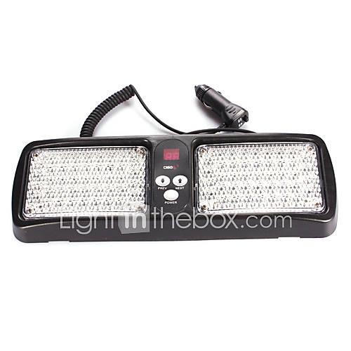 Super Bright 86 LED Red / Blue Light Car Truck Visor Strobe Flash Light Panel