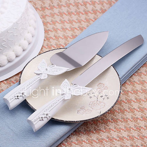 wedding cake server and knife serving sets wedding cake knife beautiful butterfly design 8735