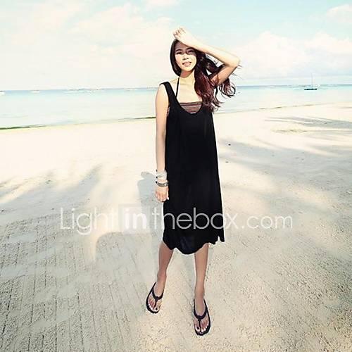 Womens Halter Beach Dress Long Section