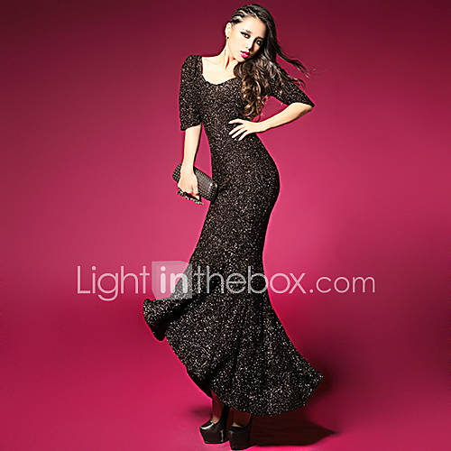 Womens Sexy Long Backless Dress