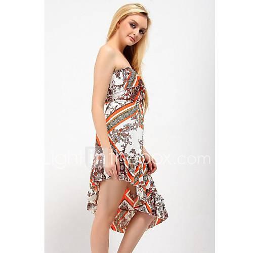 Womens Strapless Beach Dress with Beautiful Pattern