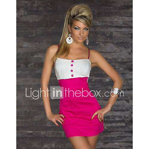 Womens Sexy Splicing Color Party Dress