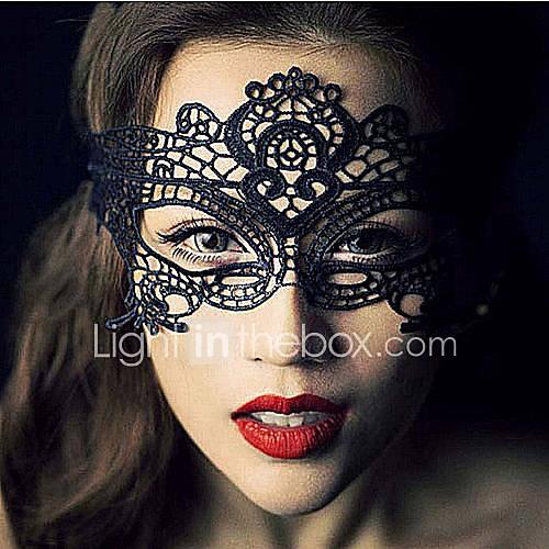 Cosplay Máscara Unisex Festival/Celebración Disfraces de Halloween Negro Halloween Encaje Un Color