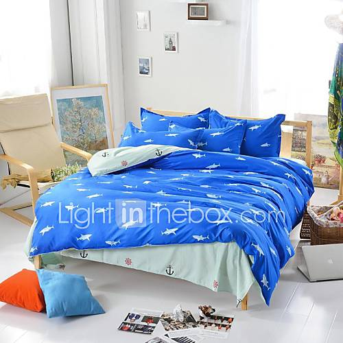 boys bed set mingjie 174 royal shark blue and size sanding 10919