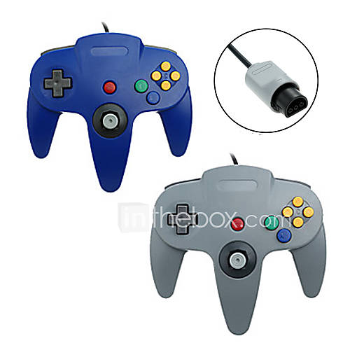 # - N64 - Empuñadura de Juego - Metal / ABS - PS/2 - Controles