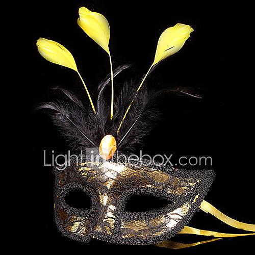 Angel y Diablo Máscara Baile de Máscaras Unisex Festival/Celebración Disfraces de Halloween Oro  negro Halloween Carnaval Retazos