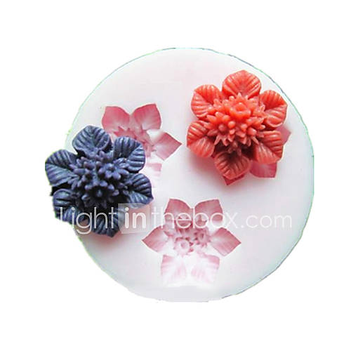 a wedding cake recipe three cell flower silicone mold fondant molds sugar craft 10978