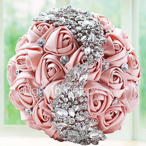 crystal wedding flower bouquets brooch bouquet floral bridal handholding flower 3216