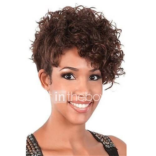 very curly hair styles curly brown wig for haircut synthetic 9173 | qwkbco1464785003217