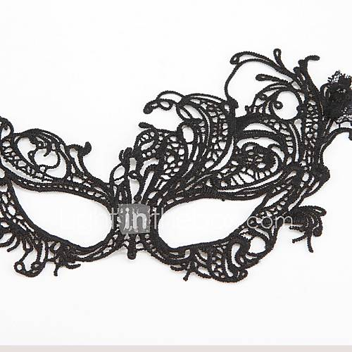 Cosplay Máscara Unisex Festival/Celebración Disfraces de Halloween Negro Halloween Un Color Encaje