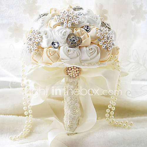 wedding bouquet holders for silk flowers with white wedding bouquet bridal silk holder flower 8462