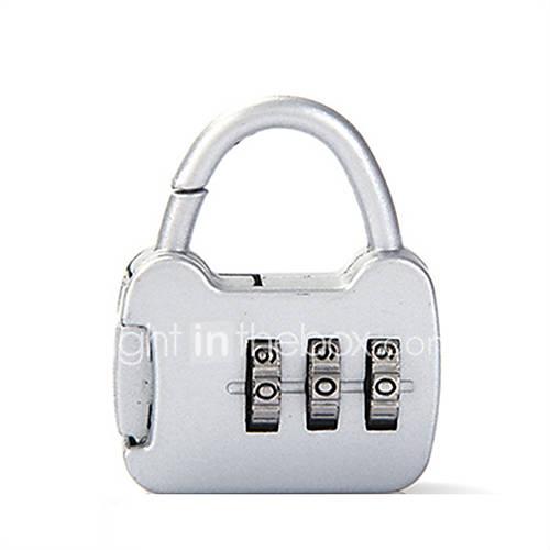 0000 aleación de zinc padlock candado 3 dígitos contraseña antirrobo mini equipaje bolsa de equipaje de papelería bloqueo de aduanas de